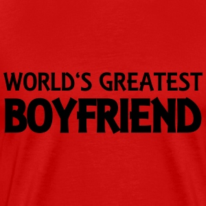 World's greatest boyfriend Camisetas - Camiseta premium hombre
