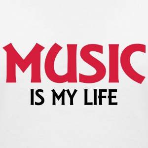 Music is my life T-Shirts - Frauen T-Shirt mit V-Ausschnitt