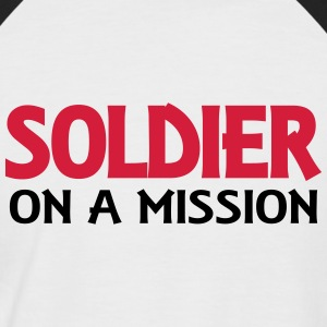 Soldier on a mission T-Shirts - Men's Baseball T-Shirt