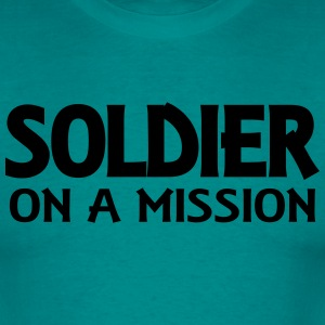 Soldier on a mission T-Shirts - Men's T-Shirt