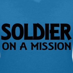 Soldier on a mission T-Shirts - Women's V-Neck T-Shirt