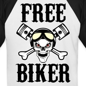 free biker 02 Tee shirts - T-shirt baseball manches courtes Homme