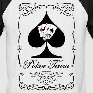 Poker Team 02 Tee shirts - T-shirt baseball manches courtes Homme