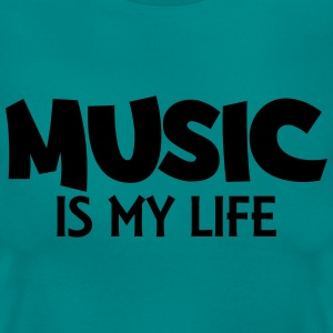 Music is my life T-Shirts - Frauen T-Shirt