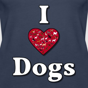 I love dogs 3 Tops - Women's Premium Tank Top