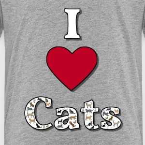 I love cats 1 Tee shirts - T-shirt Premium Enfant