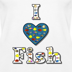I love fish 2 Tops - Women's Premium Tank Top