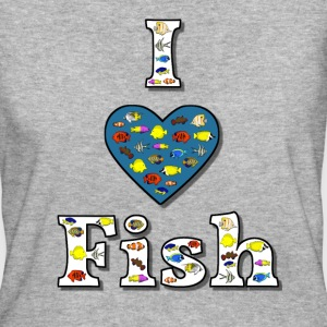 I love fish 2 T-shirts - Vrouwen Bio-T-shirt