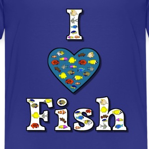 I love fish 2 Shirts - Kids' Premium T-Shirt