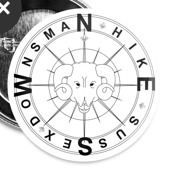 Downsman Logo 56mm Badges x 5