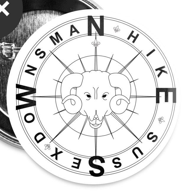 Downsman Logo 32mm Badges x 5