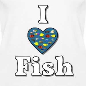 I love fish 3 Tops - Women's Premium Tank Top