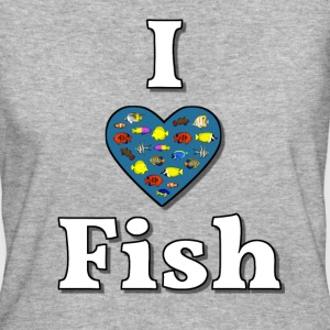 I love fish 3 T-shirts - Vrouwen Bio-T-shirt