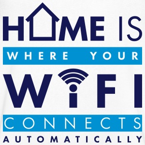 Home is where your wifi connects automatically T-Shirts - Männer T-Shirt mit V-Ausschnitt