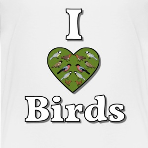 I love birds Shirts - Teenage Premium T-Shirt