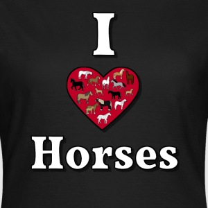 I love horses T-Shirts - Women's T-Shirt