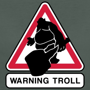 warning troll T-shirts - Vrouwen Bio-T-shirt