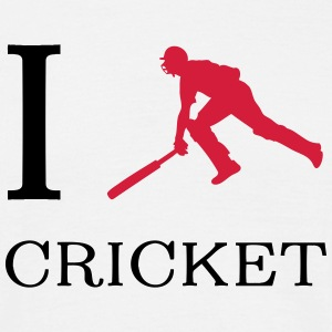 I love cricket T-Shirts - Männer T-Shirt