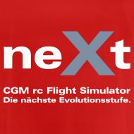 Motiv ~ neXt T-Shirt - atmungsaktiv rot