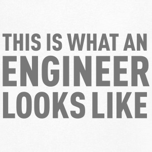 This Is What An Engineer Looks Like T-skjorter - T-skjorte med V-utsnitt for menn