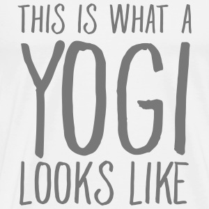 This Is What A Yogi Looks Like T-shirts - Premium-T-shirt herr