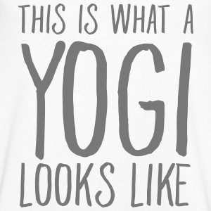 This Is What A Yogi Looks Like T-shirts - T-shirt med v-ringning herr