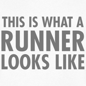 This Is What A Runner Looks Like T-shirts - Mannen T-shirt met V-hals