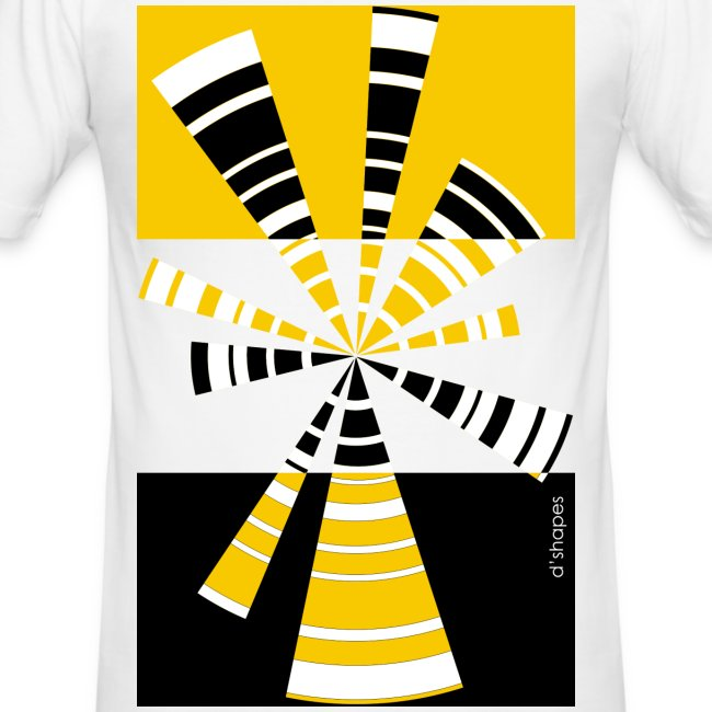 Radio Yellow - Man Slim T-shirt