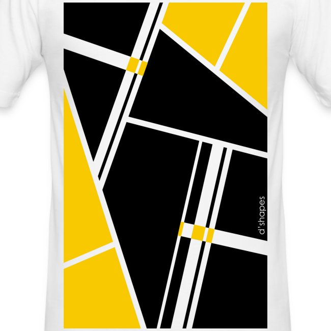 Blocks Yellow - Man Slim T-shirt