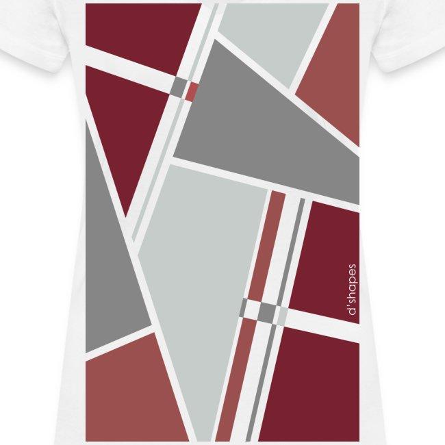Blocks Marsala - Woman V T-shirt