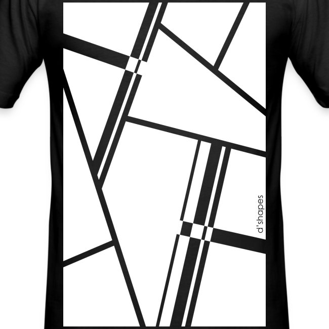 Blocks White - Man Slim T-shirt