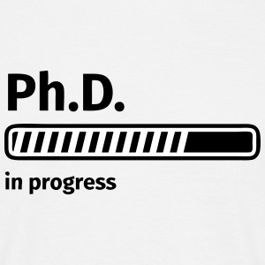 Ph.D. progress bar Koszulki - Koszulka męska