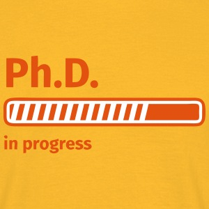 Ph.D. progress bar Tee shirts - T-shirt Homme