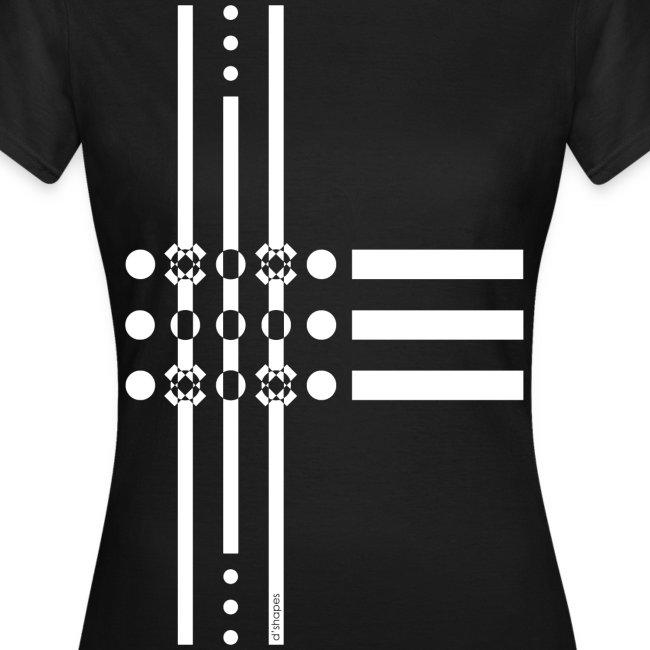 Dots White - Woman T-shirt