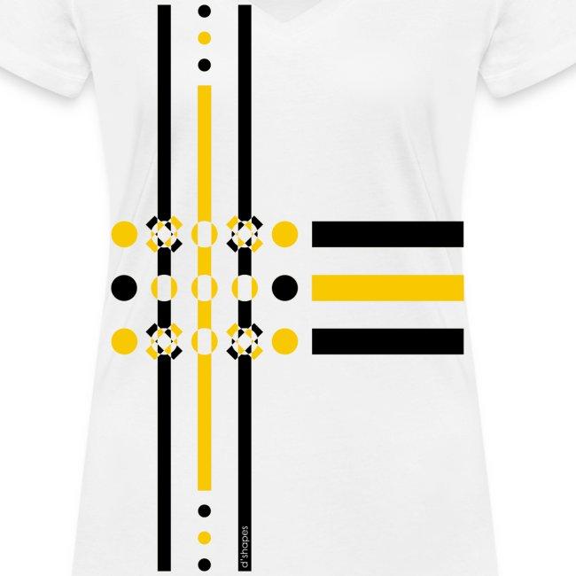Dots Yellow - Woman V T-shirt