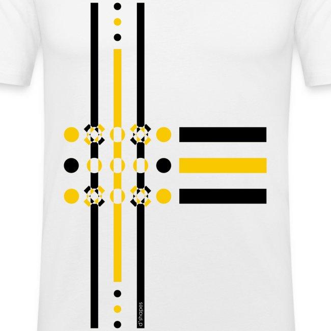 Dots Yellow - Man Slim T-shirt