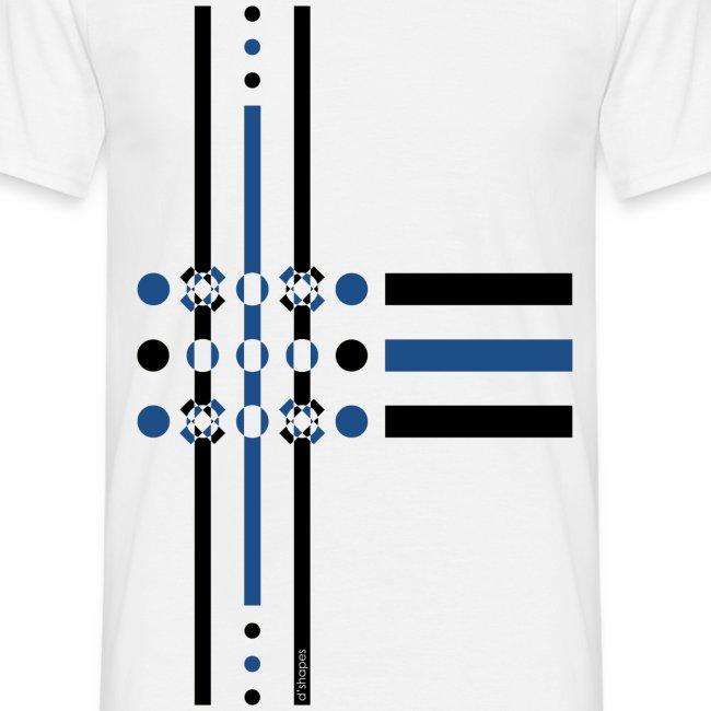 Dots Blue - Man T-shirt