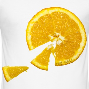 Orange - Männer Slim Fit T-Shirt