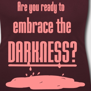 Embrace the Darkness T-Shirts - Women's Scoop Neck T-Shirt