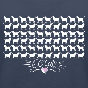 60 Cats Tops - Frauen Premium Tank Top