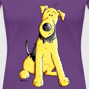 Funny Airedale Terrier T-Shirts - Frauen Premium T-Shirt