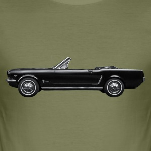 Ford Mustang Cabrio Seite T-Shirts - Männer Slim Fit T-Shirt