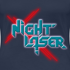 Night Laser Bandlogo-Blaurot T-Shirts - Frauen Premium T-Shirt