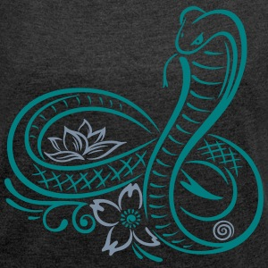 Schlange,snake, Kobra, cobra T-Shirts - Women's T-shirt with rolled up sleeves