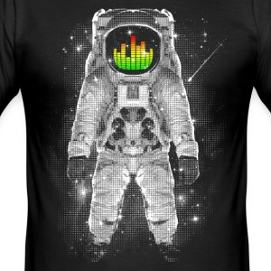 Svart Astronaut T-shirts - Slim Fit T-shirt herr