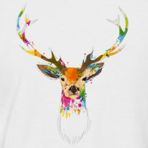 Cerf Aquarelle Tee shirts - T-shirt baseball manches courtes Homme