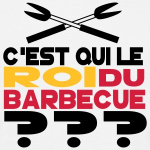 roi du barbecue Tee shirts - T-shirt Homme
