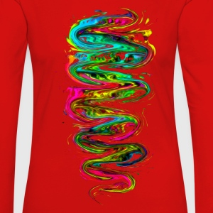Color your life! Rainbow, Music, Trance, Techno, Goa Manga larga - Camiseta de manga larga premium mujer