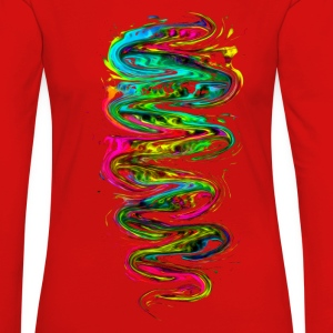 Color your life! Rainbow, Music, Trance, Techno, Goa Långärmade T-shirts - Långärmad premium-T-shirt dam