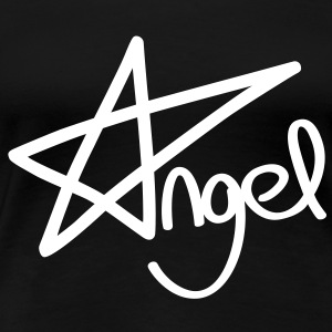 Angel pentagram T-shirts - Vrouwen Premium T-shirt